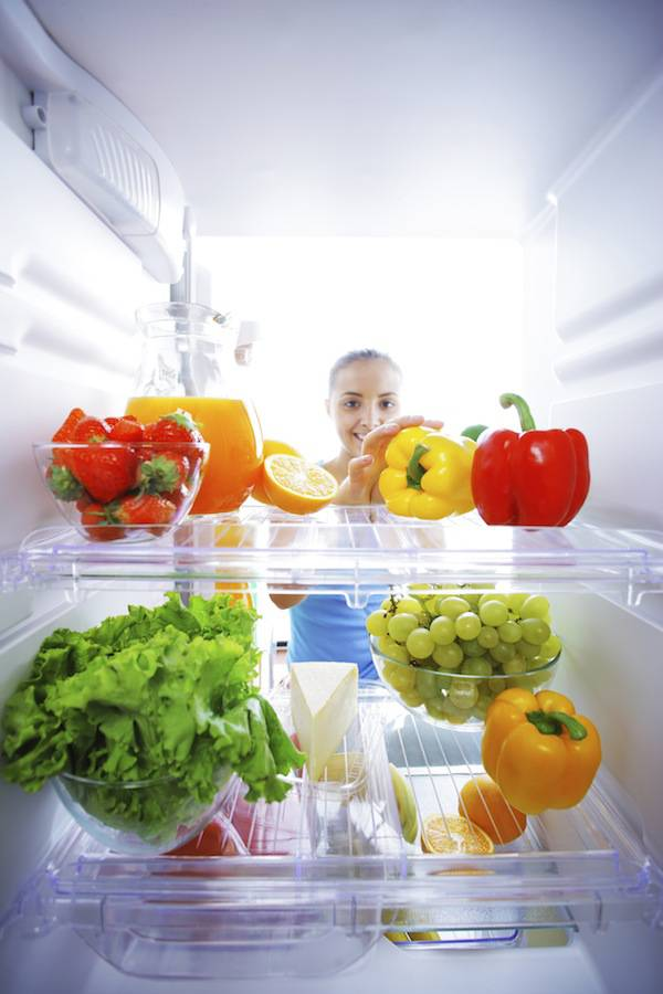 hors du réfrigérateur