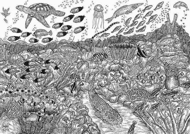 11-Year-Old-Child-Prodigy-Creates-Stunningly-Detailed-Drawings-Bursting-With-Life-1