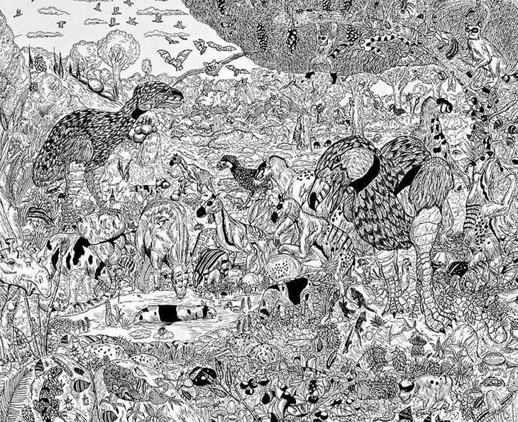 11-Year-Old-Child-Prodigy-Creates-Stunningly-Detailed-Drawings-Bursting-With-Life-10