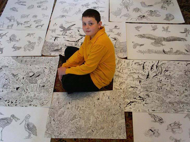 11-Year-Old-Child-Prodigy-Creates-Stunningly-Detailed-Drawings-Bursting-With-Life-13
