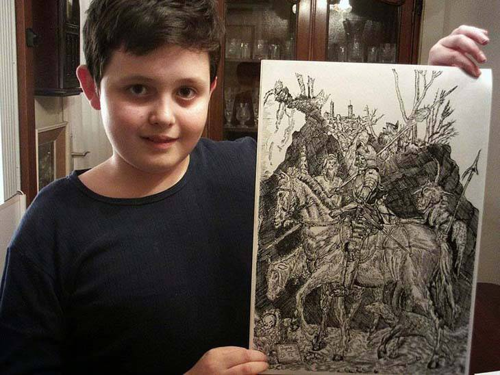 11-Year-Old-Child-Prodigy-Creates-Stunningly-Detailed-Drawings-Bursting-With-Life-3