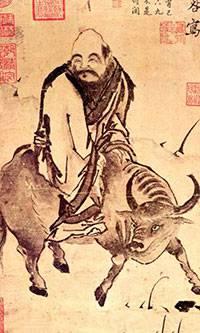 Lao Tseu chemine sur son boeuf
