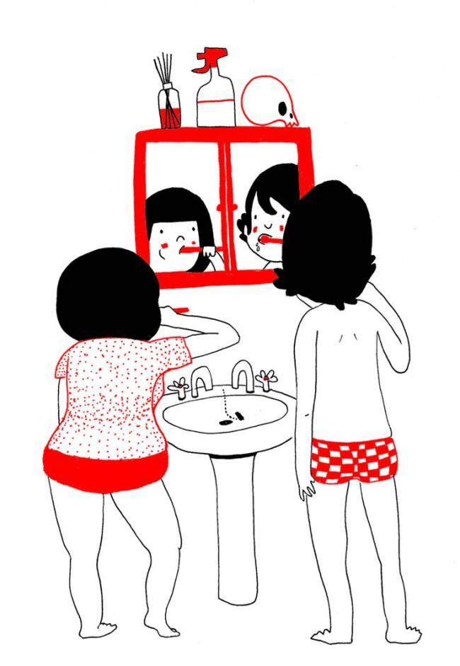 15 dessins qui illustrent parfaitement les gestes - 2 personne qui font l amour dans un lit ...
