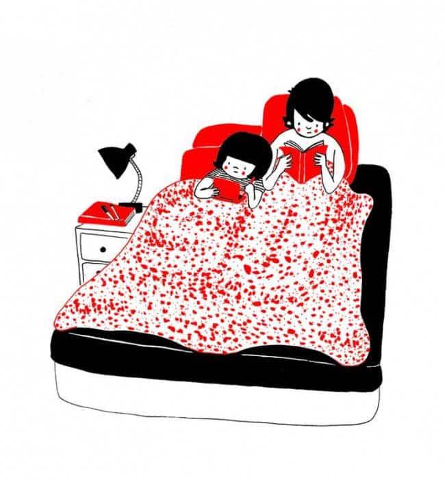 15 dessins qui illustrent parfaitement les gestes - Les meilleurs positions pour faire l amour au lit ...
