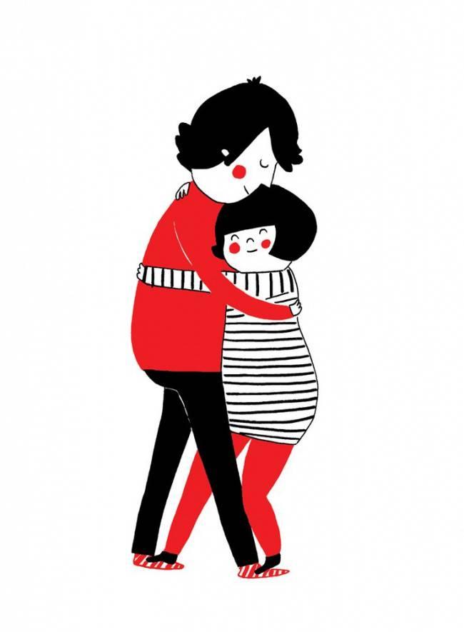 15 dessins qui illustrent parfaitement les gestes spontan s en couple - Position pour faire l amour dans un lit ...
