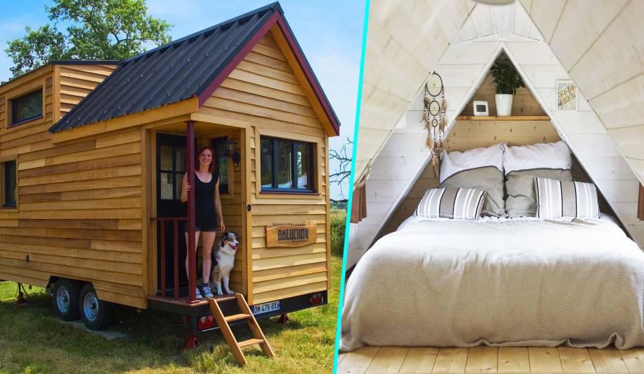 Elle crée une tiny-house française et démontre que rien n'est impossible !