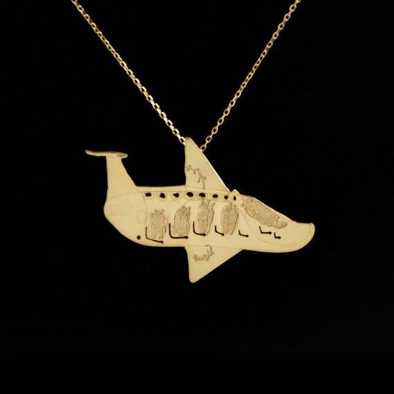 TAILLE moyenne bijoux personnalisé, sur mesure fait des colliers en argent plaqués or de dessins de vos enfants, cadeau parfait