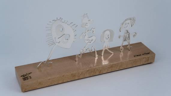 Sculptures de table personnalisés argent fait à la main, cadeaux d