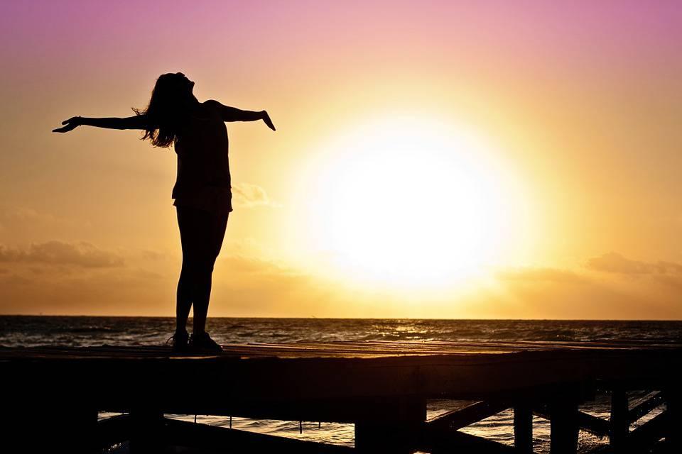 Femme, Jeune Fille, Liberté, Heureux, Soleil