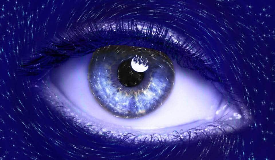 Oeil, Bleu, Vision, Iris, Futuriste