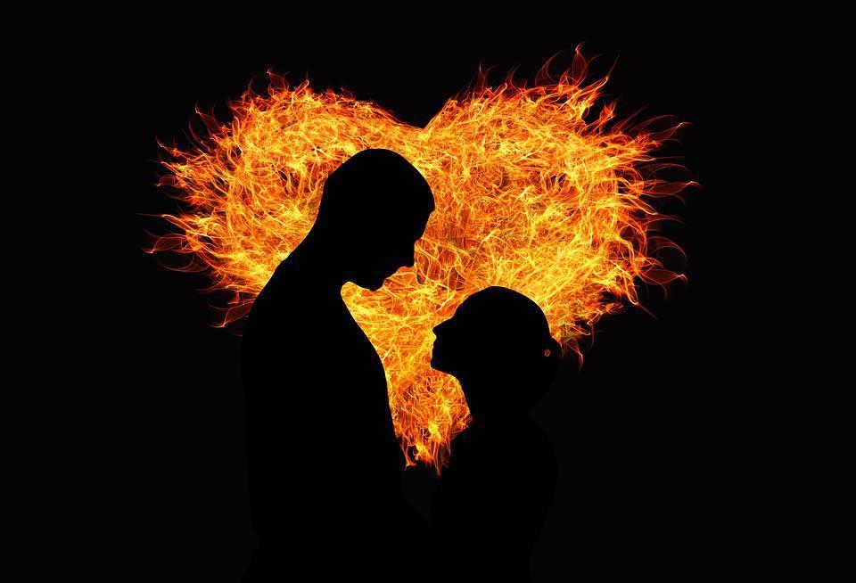 Coeur, Amour, La Flamme, Amateurs De, L'Homme, Femme