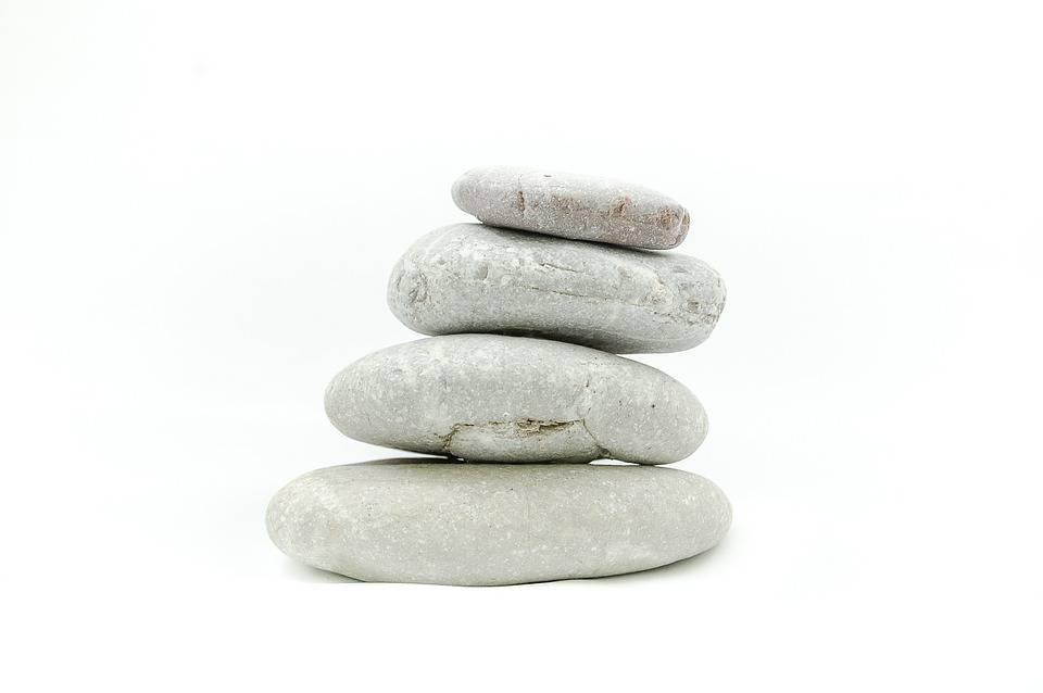 Les Pierres, Pierre, Sur Un Fond Blanc, Zen, Méditation