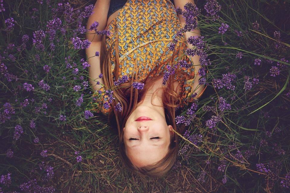 Jeune Fille, Lavande, Endormi, Le Bonheur, Purple