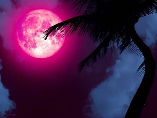 pleine lune rose magique
