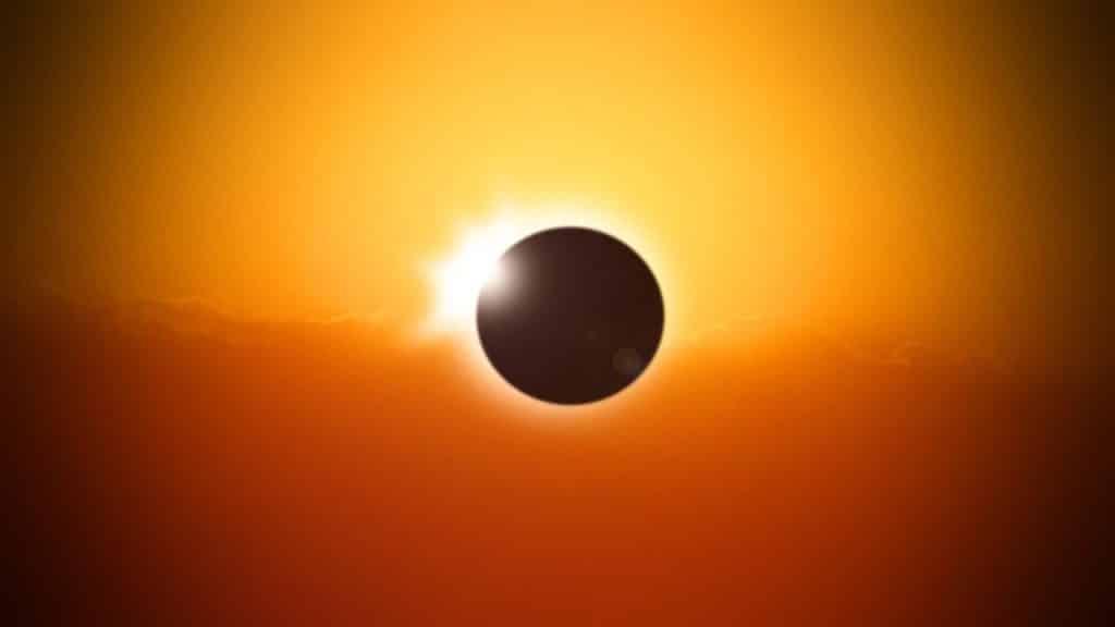 éclipse solaire du 14 et 15 décembre 2020
